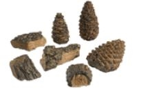 Peterson Valley Oak Wood Chips (4) & Pine Cone (3) Decor Pack