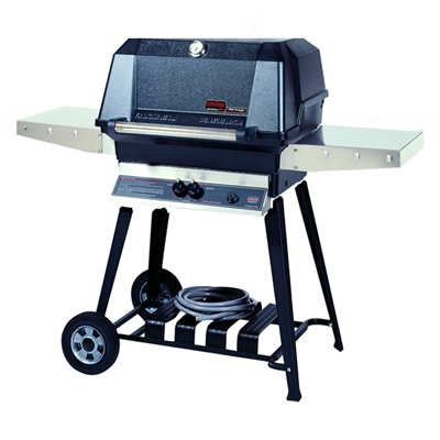 MHP WNK Natural Gas Grill With Stainless Steel Shelves, SearMagic Grids On Cart