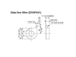 DV0P031...DATA LINE FILTER FOR SPEED CONTROLLERS (FOR USE IN 3-PHASE MOTORS)