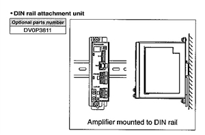 DV0P3811...DIN RAIL MOUNTING UNIT, FOR USE WITH MINAS-BL SERIES BRUSHLESS AMPLIFIER