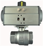 "S2CS07-0-0...STAINLESS STEEL-2 WAY NC-SPRING RETURN 1 1/4"" NPTF BALL VALVE"