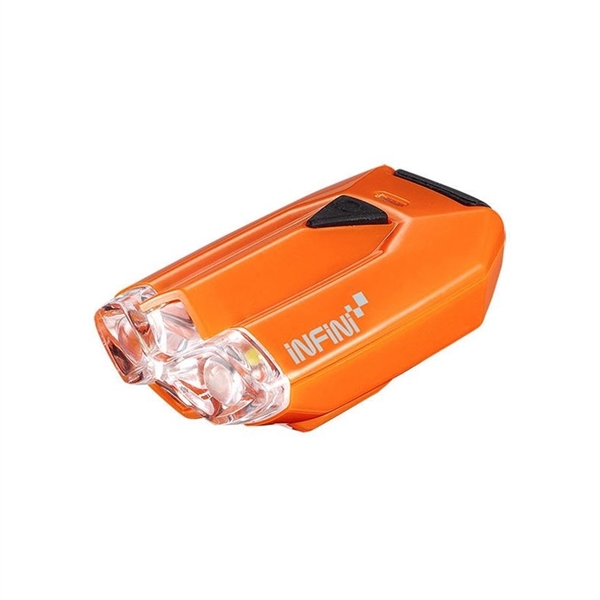 Lava super bright micro USB front light with QR bracket orange