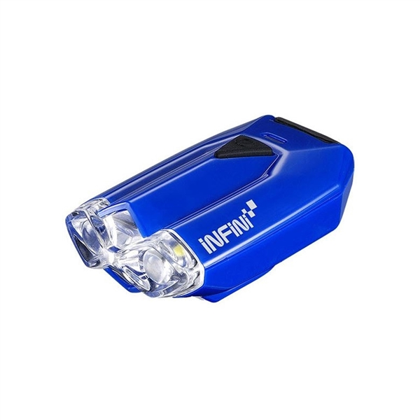 Lava super bright micro USB front light with QR bracket blue