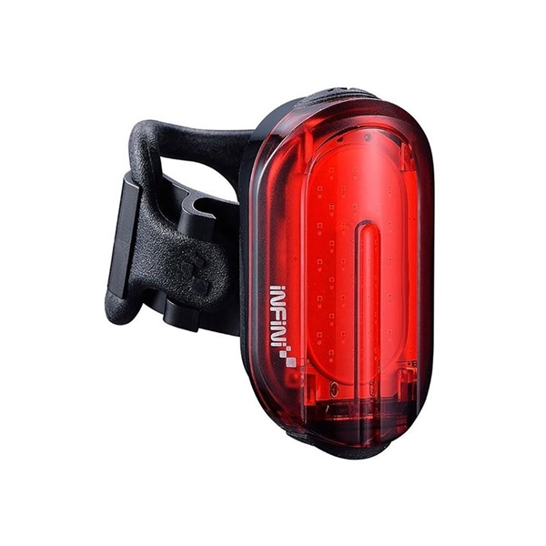 Olley super bright micro USB rear light with QR bracket black with red lens