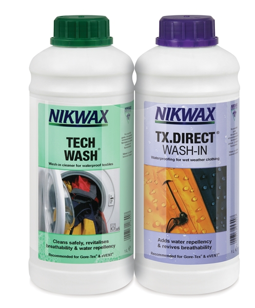 Nikwax Tech Wash/TX Direct Wash-In 2x 1 litre