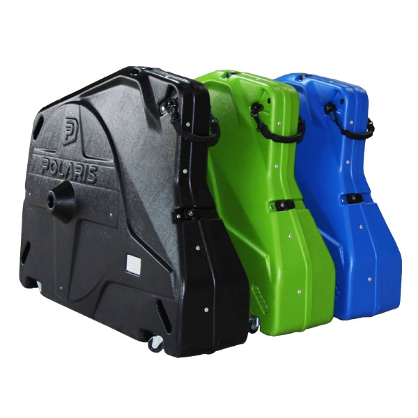 Polaris Bike Pod Pro is a fully rigid bike transport case made from polypropylene, proud to be manufactured in the UK.