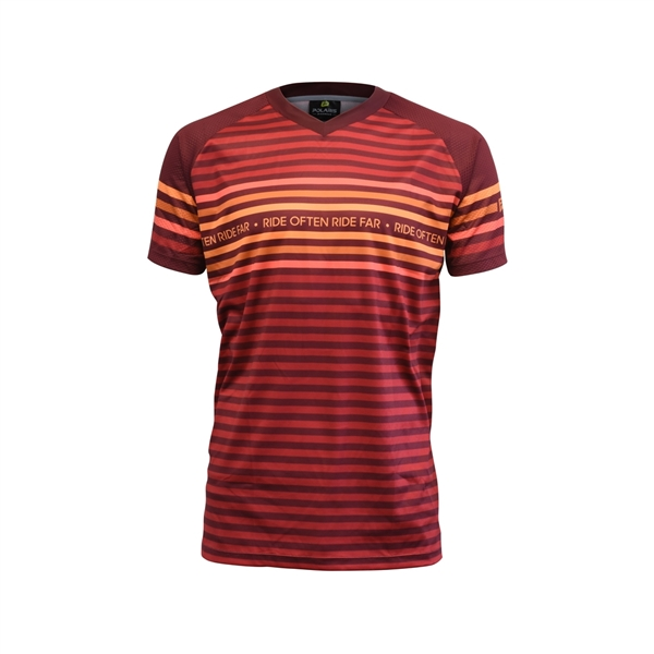 VISTA SS JERSEY, Claret/Red/Orange