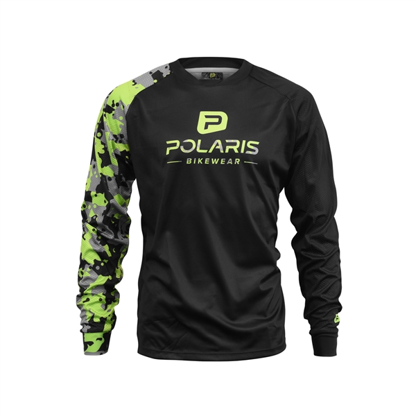 DRIFT LS JERSEY, Black/Lime/Grey