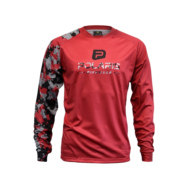 DRIFT LS JERSEY, Red/Black/Gray