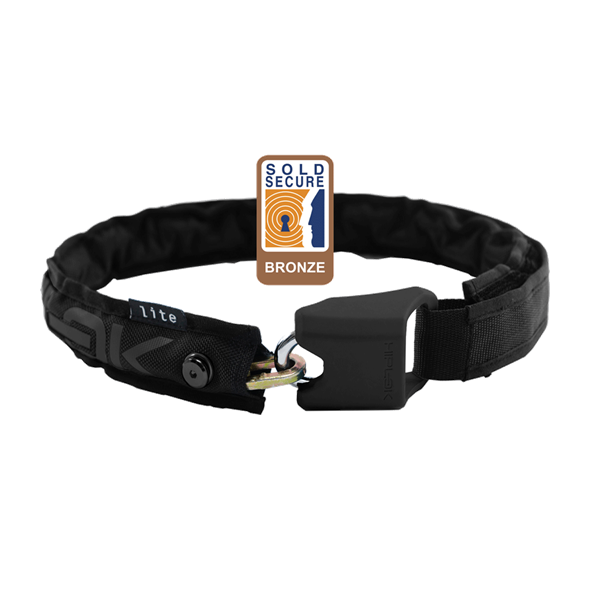 HIPLOK LITE WEARABLE CHAIN LOCK 6MM X 75CM - WAIST 24-44 INCHES (BRONZE SOLD SECURE)