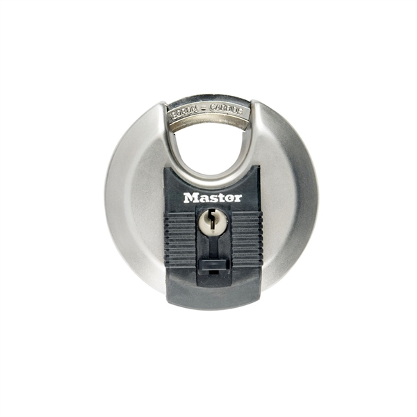 MASTER LOCK EXCELL DISCUS 70MM PADLOCK 10MM OCTAGONAL SHACKLE 4 PIN CYLINDER