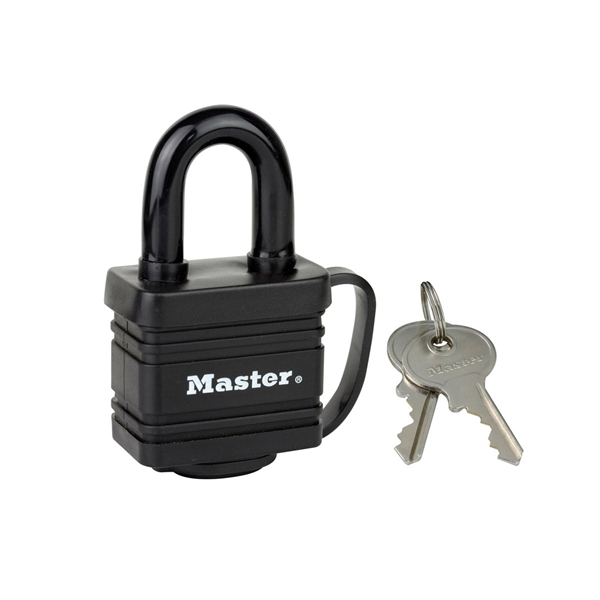 MASTER LOCK 40MM LAMINATED PADLOCK WEATHERPROOF PADLOCK BLACK