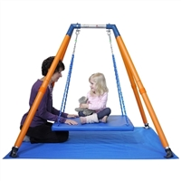 Got Special Kids| HALEY'S JOY On the Go Swing System 1 IS Designed for therapeutic swing therapy in places such as schools, homes, clinics or hospitals, this easy to transport Haley's Joy On the Go Swing Frame and Mat