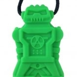 The chubuddy robotz chewy pendant is a fun shape that blends in and is discreet.  For light to medium chewers, they come in 4 colors and with a break away clasp necklace.