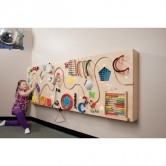 Got Special Kids|  3 Interactive panels made of Baltic Birch that offer tactile, visual and sound sensations resulting in a great way to offer multiple options sensory input.