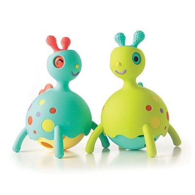 Got Special KIDS|Fat Brain Rollobie Cute Tactile Silicone Toy Animal w/ Rolling Belly