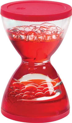 Toysmith Liquid Mini Hourglass is fun to Watch the liquid bubble down this one minute hourglass timer. Assorted colors.