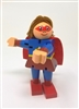 Original Toy Company Mini Super Hero Girl Mini-bendable figure is a compact fidget for girls to bend and shape into various positions by moving head, arms and legs.