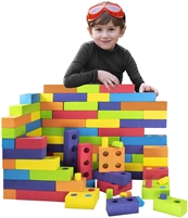 Got Special KIDS| Jumbo Foam Building Blocks with Peg Connectors