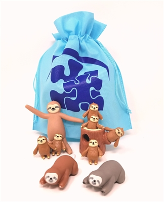 Got Special KIDS|Adorable Sloth-Themed Sensory Fidget Toy Travel Bag