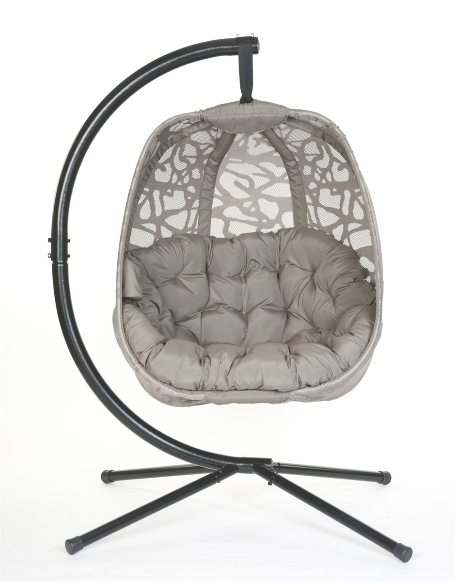 Suspended Cradling Egg Chair With Stand 66 H X 34 W X 34 D