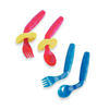 "EasieEaters Curved Utensils have 3"" long handles are the perfect size for children."