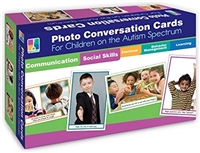 Got Special Kids| 90 Photo Conversation Cards for Children with Autism and Aspergers Learning Cards for Special Needs / Inclusion; Behavior Management.