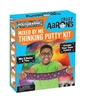 Crazy Aaron's Mixed By Me Thinking Putty Kit - Holographic you get everything to make your putty your way - 5 clear tins, 6 special effects putties (3 Color Concentrate, Sparkle/Glow/Shimmer), colored pencils, and instructional mat.
