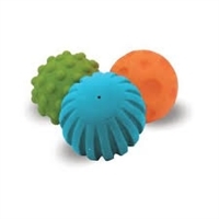 Edushape Textured Mini Balls are perfect to develop gross motor skills. Infants will love the multiple textures and soft feel.