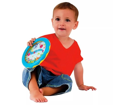 "Got Special KIDS|Edushape Ocean Drum Gentle soothing ocean sounds are achieved by moving the beads around the enchanting aquatic scene. 7"" diameter. Packaged for easy gift wrapping."