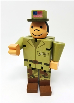 Got Special KIDS|Mini Army Bendable Fidget - Mini Army Man is a 5-Inch Wooden Bendyman Fidget