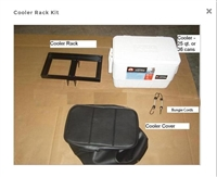 Cooler rack kit to fit tongue of motorcycle trailer