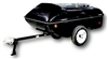 Slipstream motorcycle cargo trailer, Time Out Trailers.