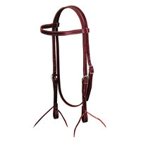 Burgundy latigo leather horse browband headstall from Weaver Leather at Working Horse Tack