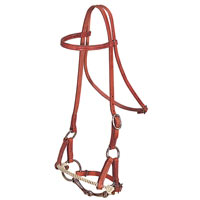 Harness Leather Half Breed Side Pull Headstall by Weaver Leather at Working Horse Tack in Ohio