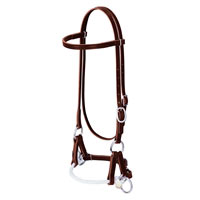 Deluxe Latigo Leather Side Pull Headstall by Weaver Leather at Working Horse Tack in Ohio