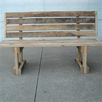 Amish made Wooden Barn Bench