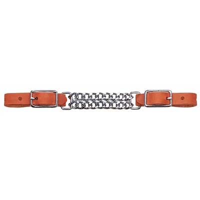 Weaver Harness Leather Double Flat Link Curb Strap