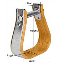 Weaver Wood Stirrups with Leather Treads