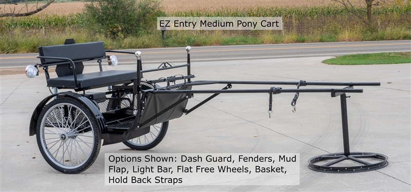 EZ Entry Wood Pony Cart, Fairview EZ Entry Carts, Amish Made