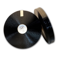 Biothane Black 401 Diamond Extra Thick webbing with four grooves