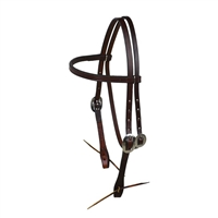 Dark Oiled Headstall by Berlin Custom Leather in Ohio