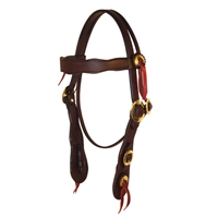 Dark Oiled Old Timer Headstall by Berlin Custom Leather in Ohio