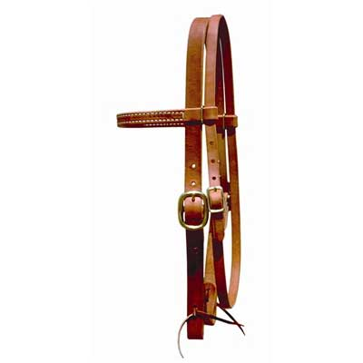 Leather Draft Headstall 1 Inch - Berlin Custom Leather | Horse Tack