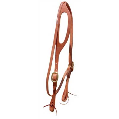 Leather Shape Ear Headstall with Throatlatch - Berlin Leather