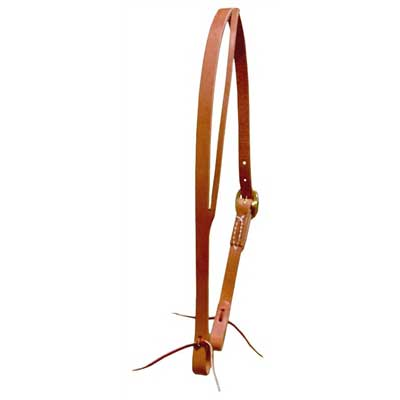 Herman Oak harness Leather Split Ear Headstall - Berlin Leather