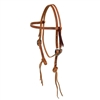Rattlesnake Straight Browband Headstall by Berlin Custom Leather in Ohio