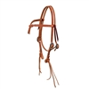 Rattlesnake Knotted Browband Headstall with S.S. Hardware by Berlin Custom Leather in Ohio