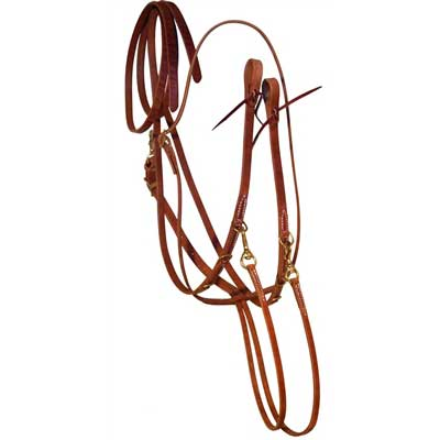 All Leather German Martingale with Split Reins at Working Horse Tack