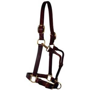 Leather Horse Track Halter | Working Horse Tack - Amish Country